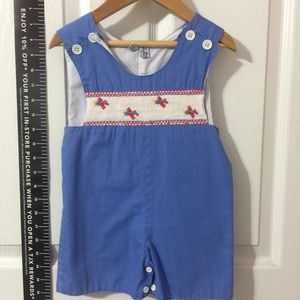 Orient Expressed boy's romper with smocked top